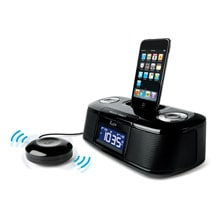 Dual Alarm Clock for iPhone and iPod with Bed Shaker, Black