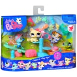 Littlest Pet Shop Chase-n-Play Park Toy Pet Set