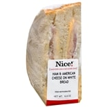 Nice! Sandwich Ham & American Cheese on White Bread