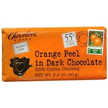 Dark Chocolate Bar, Orange Peel