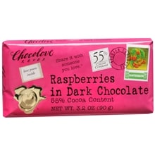 Dark Chocolate Bar, Raspberries