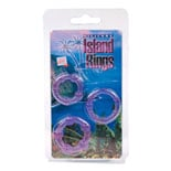 California Exotic Novelties Silicone Island Rings Purple
