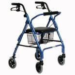 Essential Medical Featherlight 4 Wheel Walker Blue