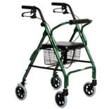 Essential Medical Featherlight 4 Wheel Walker Green