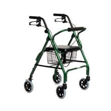 Featherlight 4 Wheel Walker, Green