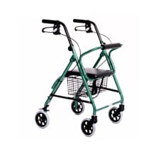 Featherlight Demi 4 Wheel Walker, Teal