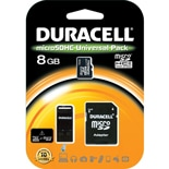 Duracell 8 GB Micro Secure Digital Card w/ Universal Adaptor