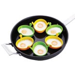 The Chefs Toolbox Silicone Egg Poachers Set 6