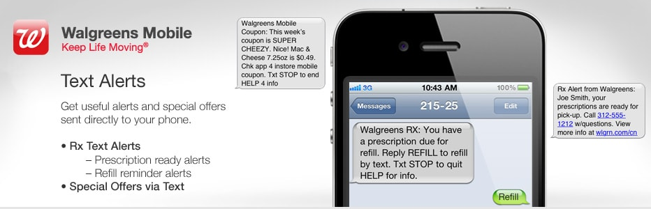 Get useful alerts and special offers sent directly to your phone.