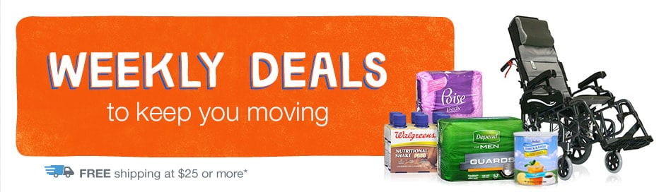 Weekly Deals to keep you moving. FREE shipping at $25.*