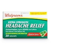 Get 1,000 pts when you buy Walgreens Ext Str Headache Relief Quick Gels, 20 ct.