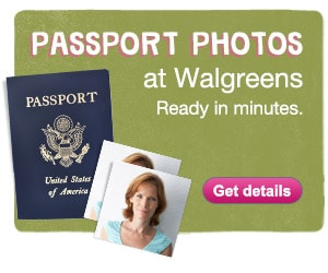 Passport Photos at Walgreens. Ready in minutes. Get details.