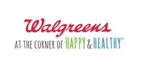 Walgreens logo Happy & Healthy tagline centered