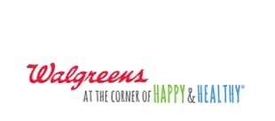 Walgreens logo Happy & Healthy tagline offset