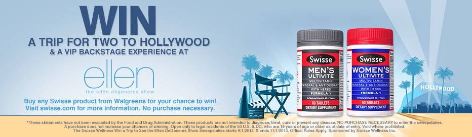 WIN a trip for 2 to Hollywood & a VIP Backstage experience at Ellen DeGeneres.*
