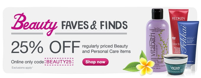 25% OFF regularly priced Beauty & Personal Care w/code BEAUTY25(1). Shop now.