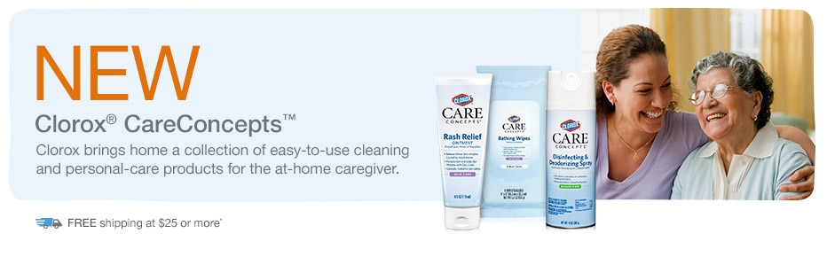 NEW Clorox(R) CareConcepts.(TM) FREE shipping at $25.*