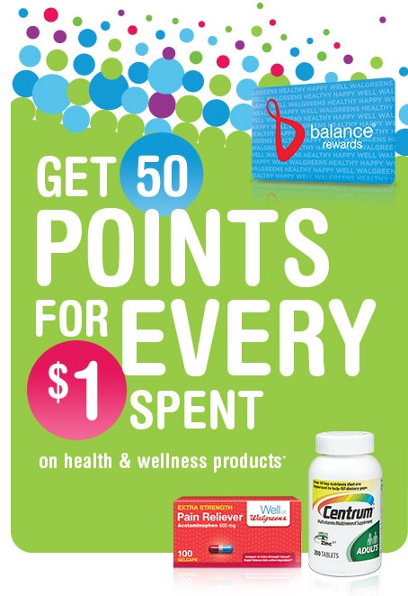 Get 50 Points for Every $1 Spent.*