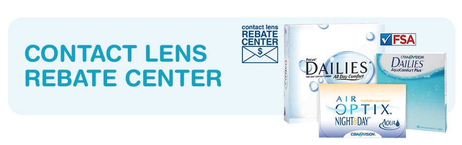 Contact Lens Rebate Center. FSA approved.
