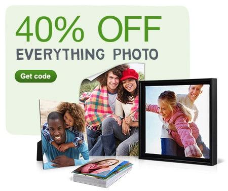 40% OFF Everything Photo. Get code