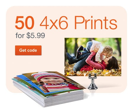 50 4x6 Prints for $5.99. Get code.