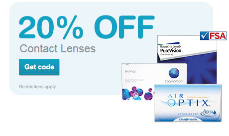 20% OFF Contact Lenses. Get code. Restrictions apply.