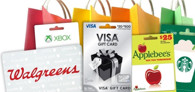 More gift cards. More gift options.