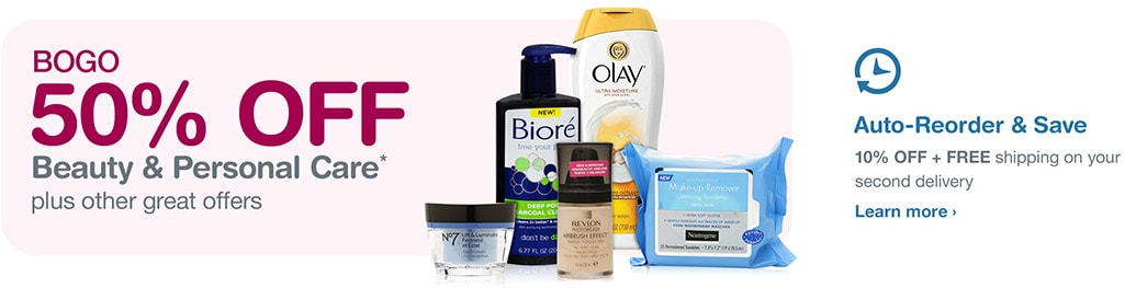 BOGO 50% OFF Beauty & Personal Care.* Auto-Reorder & Save. Learn more.