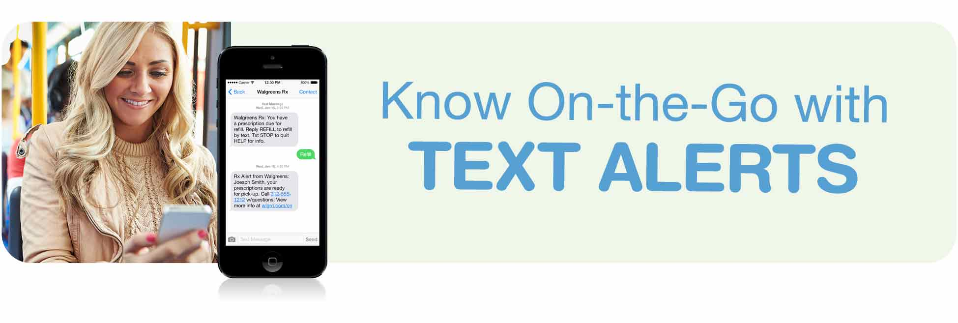 text opt in for rx alerts walgreens know on the go text alerts