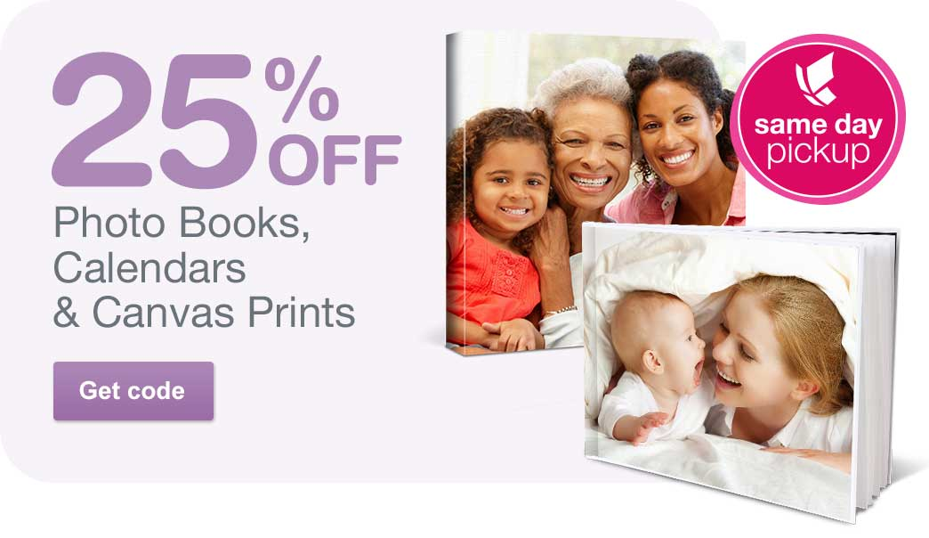 25% OFF Photo Books, Calendars & Canvas Prints. Get code.