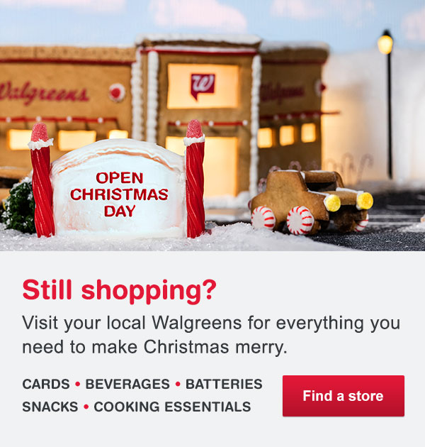 restaurants stores open on christmas day 2015 walgreens - Walgreens Open Christmas Day