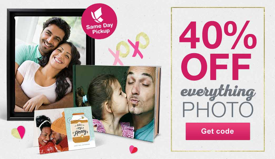 40% OFF Everything Photo. Same Day Pickup. Get code.