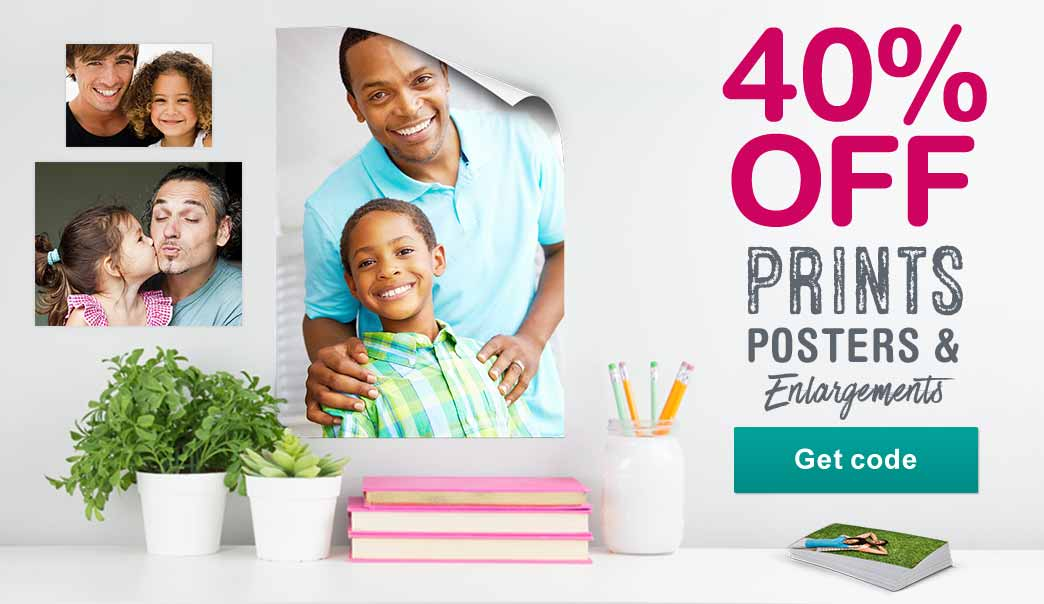 40% OFF Prints, Posters & Enlargements. Get code.