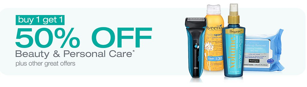 Buy 1 Get 1 50% OFF Beauty & Personal Care* plus other great offers.