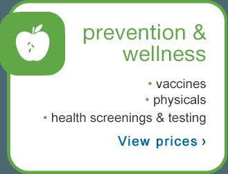 Price Menu Healthcare Clinic Walgreens