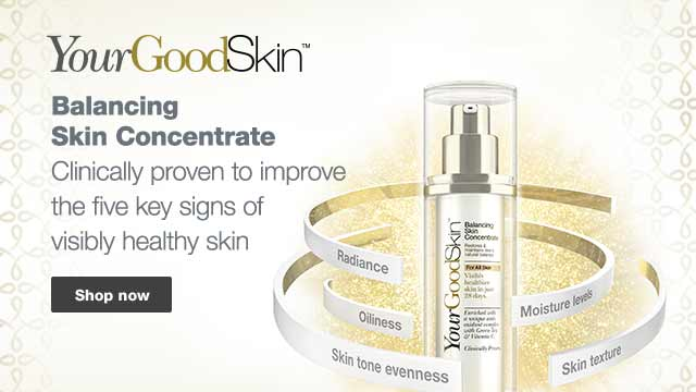 YourGoodSkin: Balancing Skin Concentrate, Clinically proven to improve the five key signs of visibly healthy skin. Shop now.