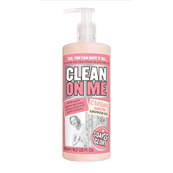 Soap & Glory. Clean on me.