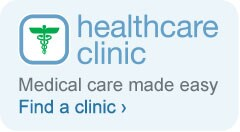 Healthcare Clinic. Medical care made easy. Find a clinic.