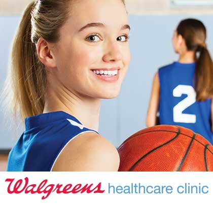 Walgreens healthcare clinic. Be ready to play.