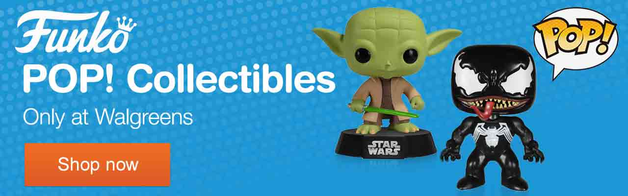 Funko Pop! Collectibles. Only at Walgreens. Shop now.