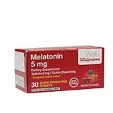 Walgreens Melatonin Quick Dissolve 5 mg Tablets Berry 30.0ea