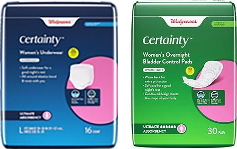 Heavy or overnight incontinence protection products