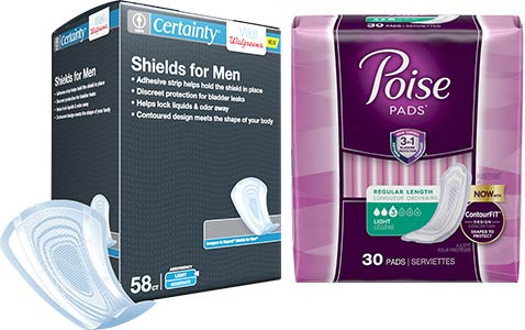Light incontinence protection products