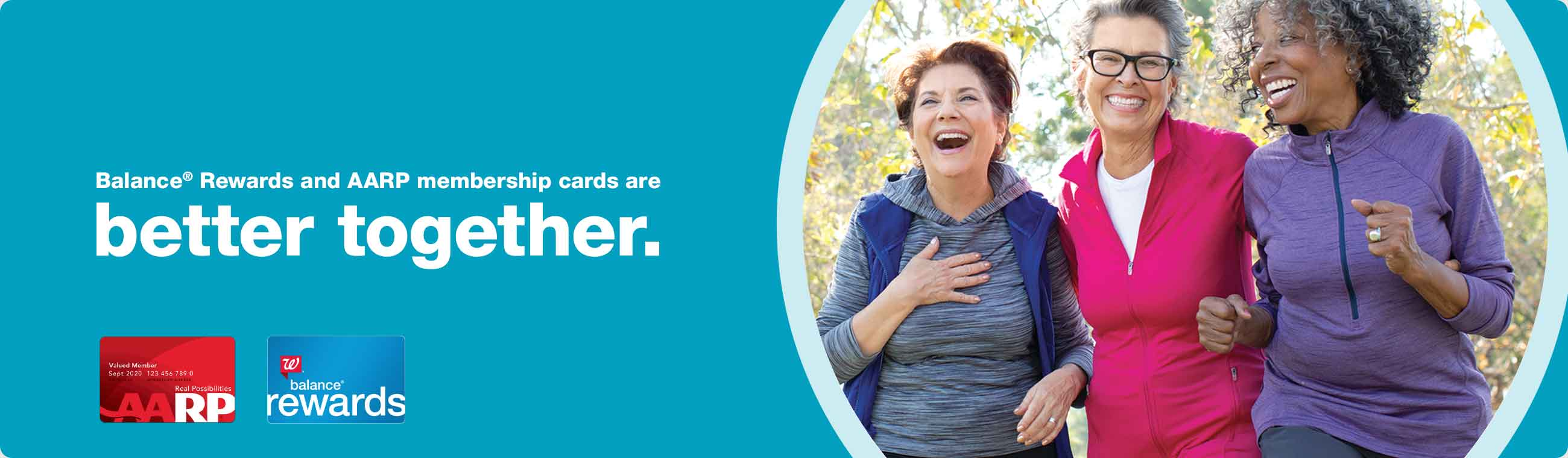 Balance® Rewards and AARP membership cards are better together.