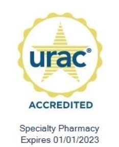 URAC Accredited Specialty Pharmacy. Expires 01/01/2023.