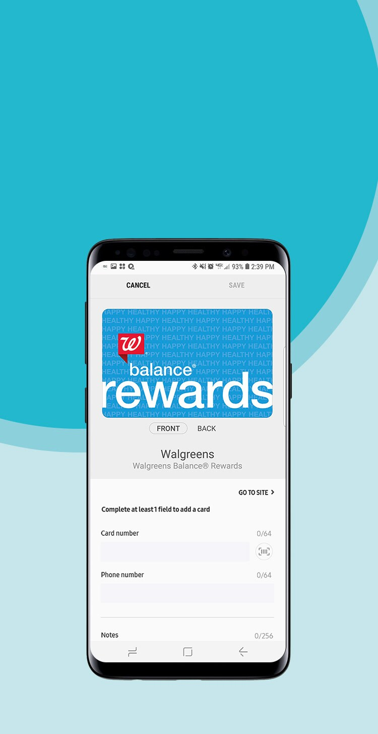 Balance® Rewards with Samsung Pay®. Checking out (and earning points!) just got easier.