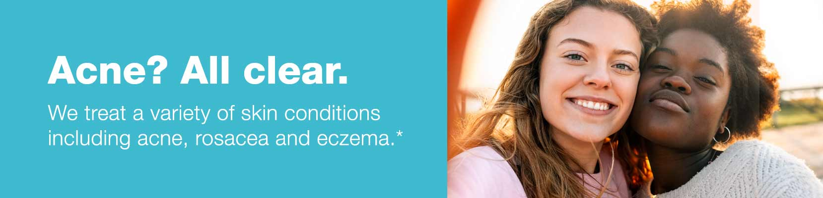 Acne? All clear.