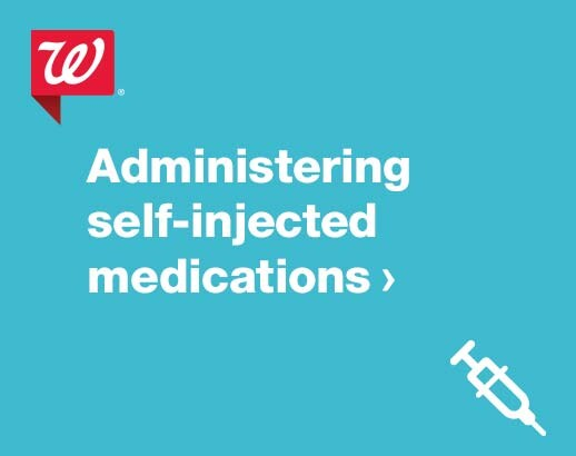 Administering self-injected medications.