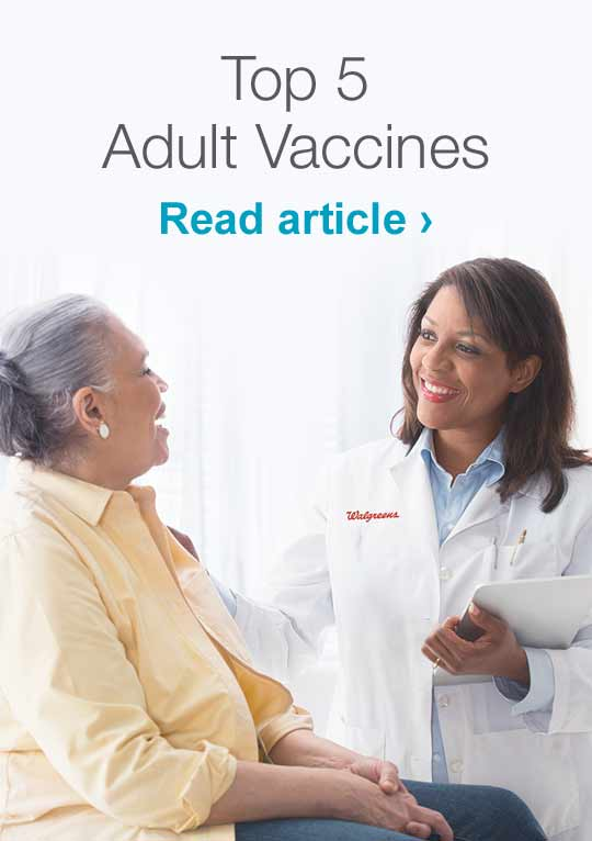 Top 5 Adult Vaccines. Read article.