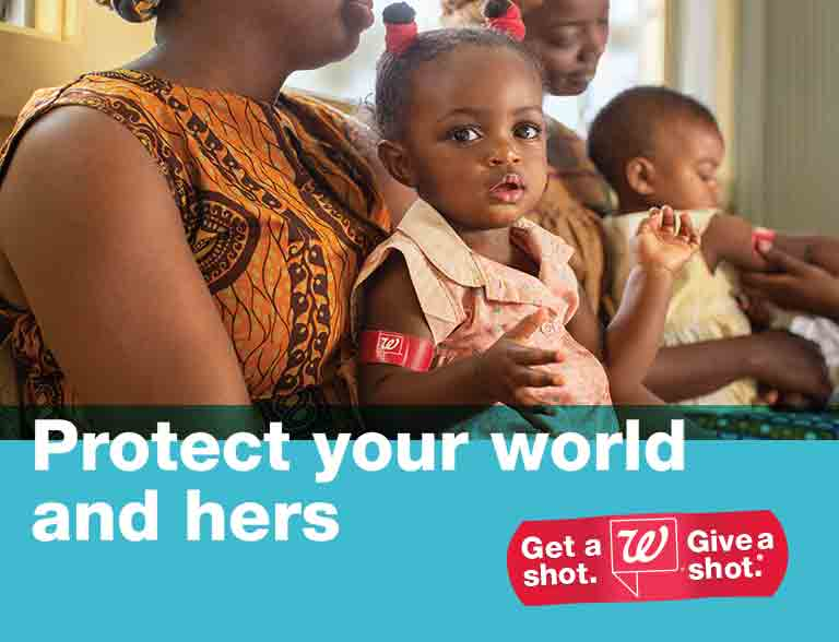 Protect your world and hers. Get a shot. Give a shot.